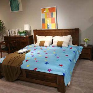 粗腿超承重可储物实木床箱体床