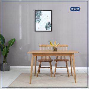 北欧橡木韩式厚边餐桌超长桌