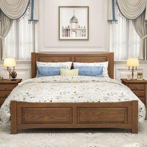 美式乡村现代欧式双人床