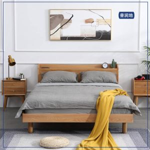 北欧小户型带插座双人床