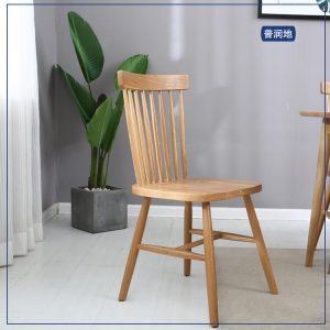 北欧简约小户型竖条餐椅椅子